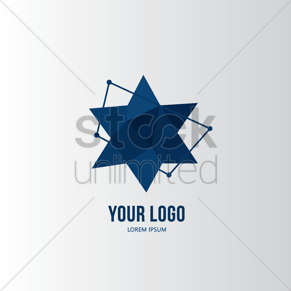 faceted star logo element vector graphic