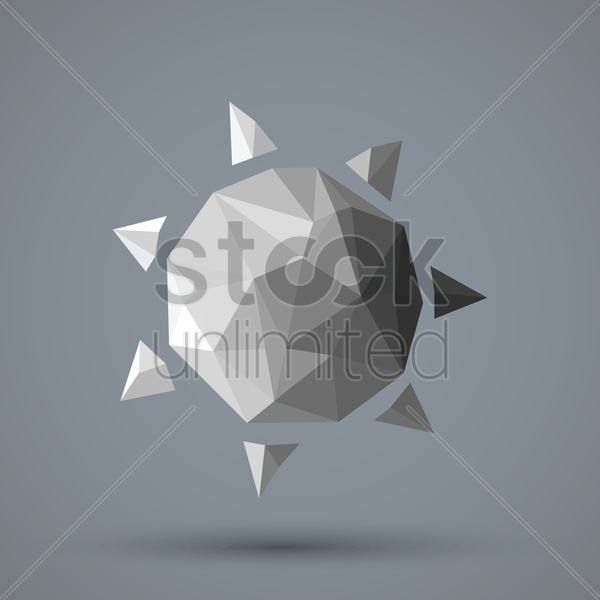 faceted sun vector graphic