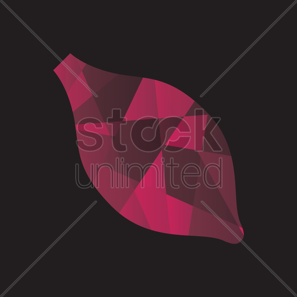 faceted sweet potato vector graphic