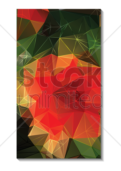 faceted wallpaper for mobile phone vector graphic