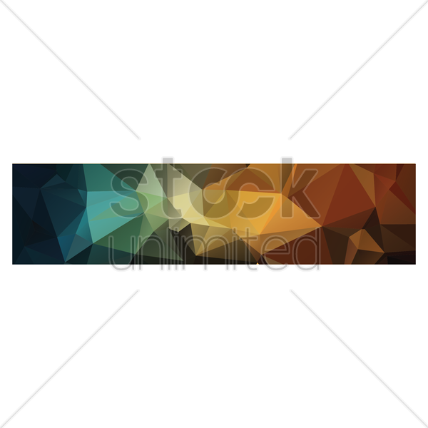 faceted web banner vector graphic