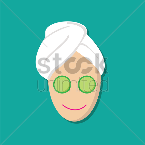 Free facial mask vector graphic