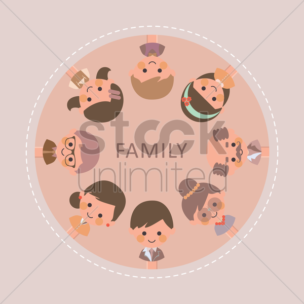 family collection vector graphic