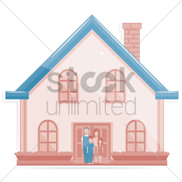 Free family home vector graphic