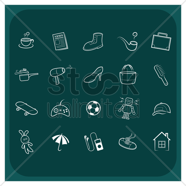 family icons vector graphic