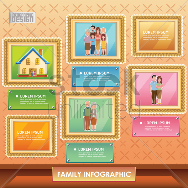 family infographic vector graphic