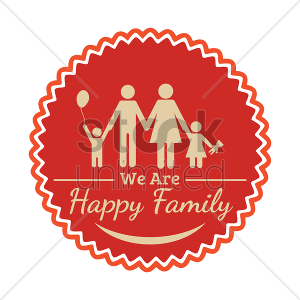 family label vector graphic