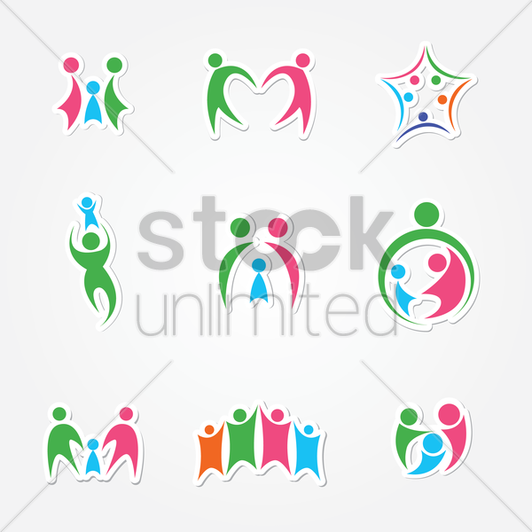Free family logo vector graphic