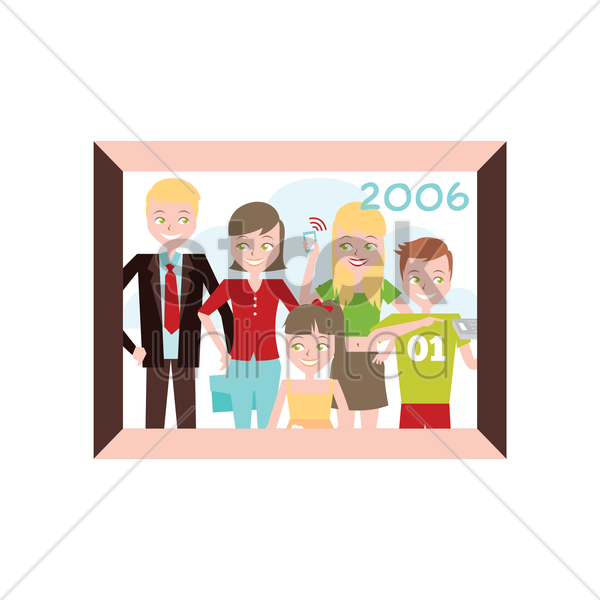 Free family portrait vector graphic