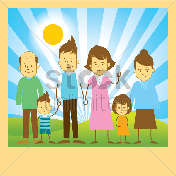 family vector graphic