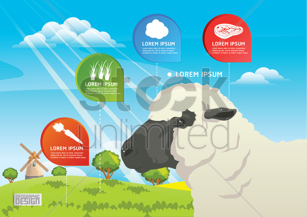 farm and agriculture infographic vector graphic