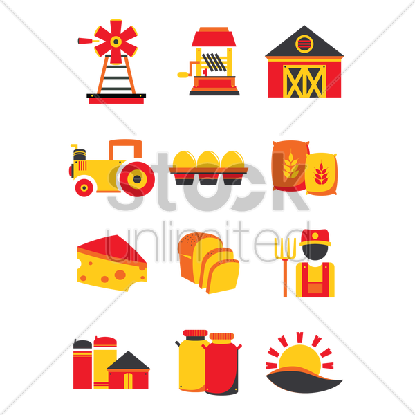 farm collection vector graphic