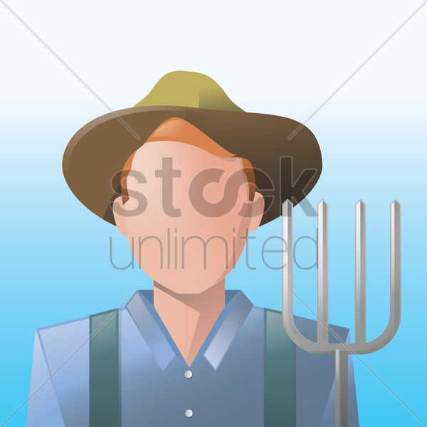 farmer vector graphic
