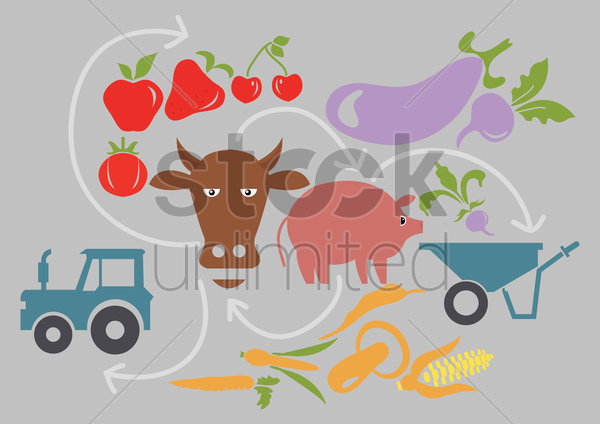 farming wallpaper vector graphic
