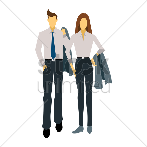 Free fashionable man and woman vector graphic
