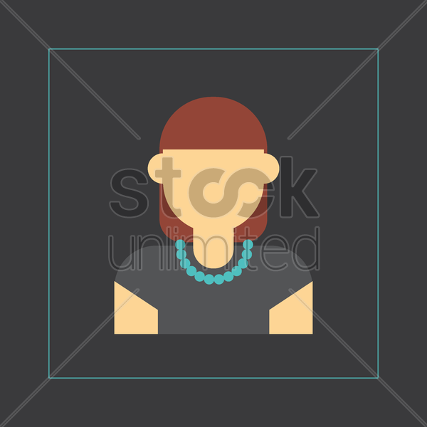 fashionable model vector graphic