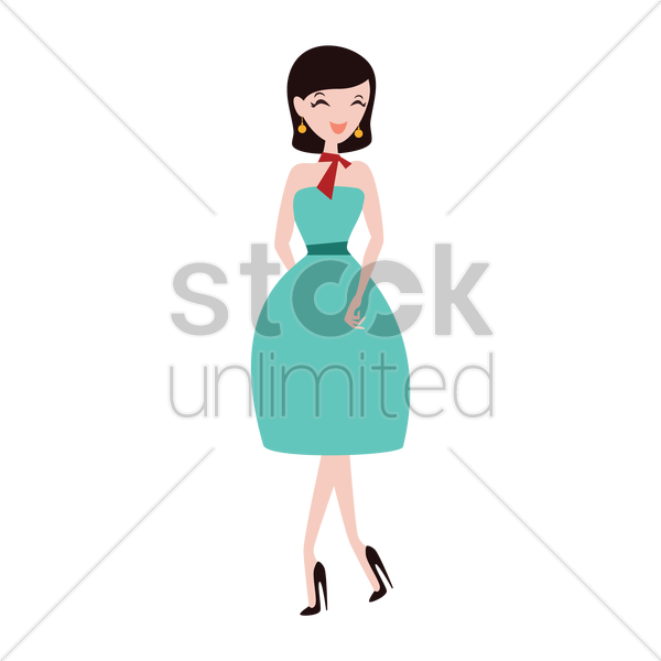 fashionable woman vector graphic