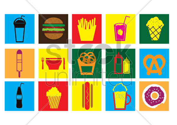 fast food vector graphic