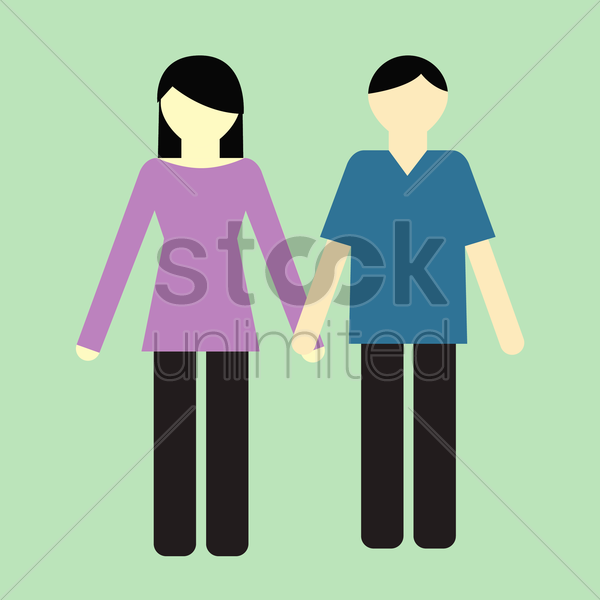 Free father and mother vector graphic