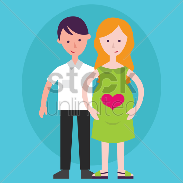father and mother vector graphic