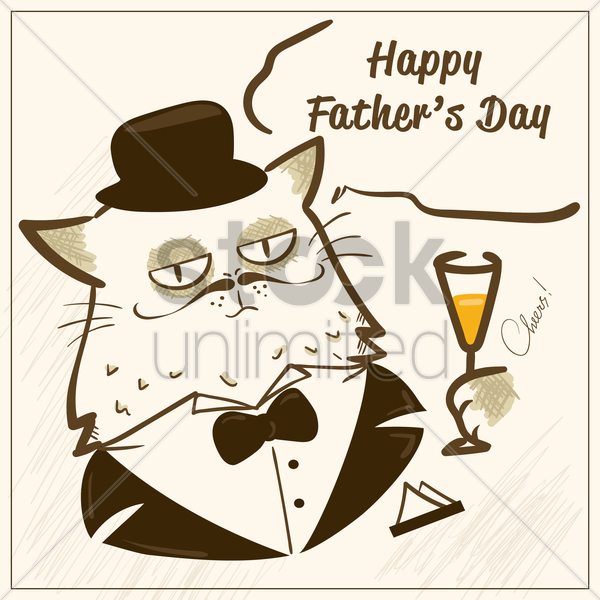father's day card vector graphic