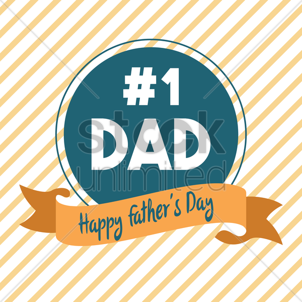 father's day greeting design vector graphic