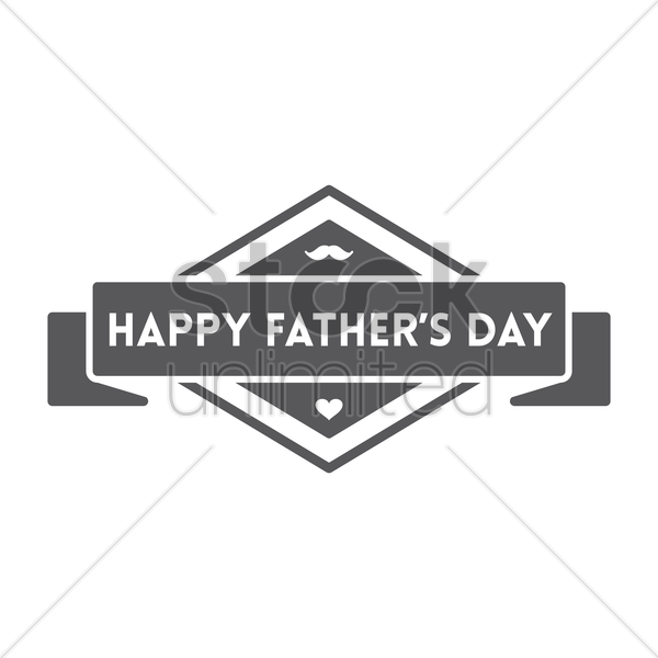 father's day label vector graphic