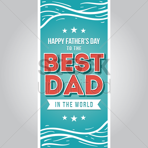 father's day labels collection vector graphic