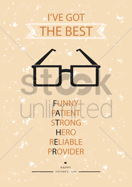 father's day poster vector graphic