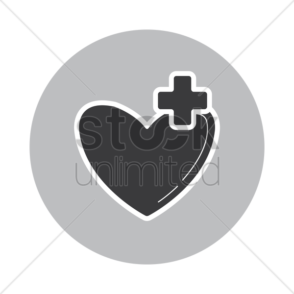 favorite icon with plus symbol vector graphic