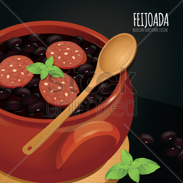 feijoada wallpaper vector graphic
