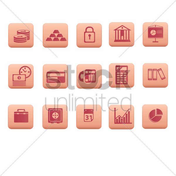 finance and business icons vector graphic