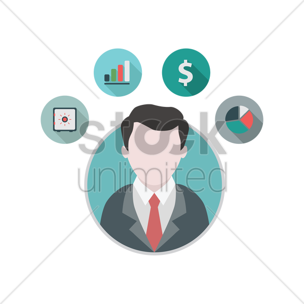finance icons vector graphic