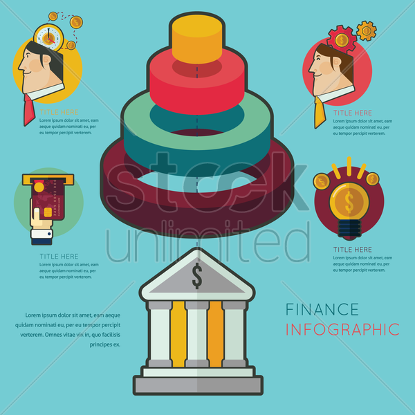 finance infographic vector graphic