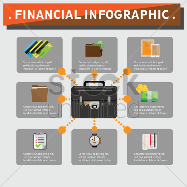 financial infographic vector graphic