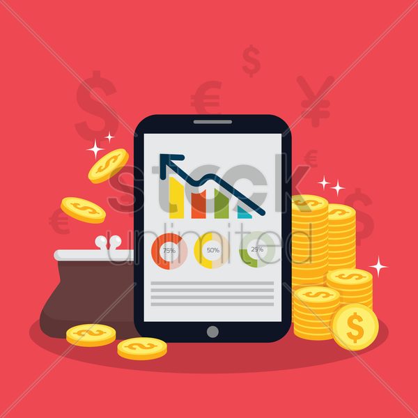 financial investment concept vector graphic