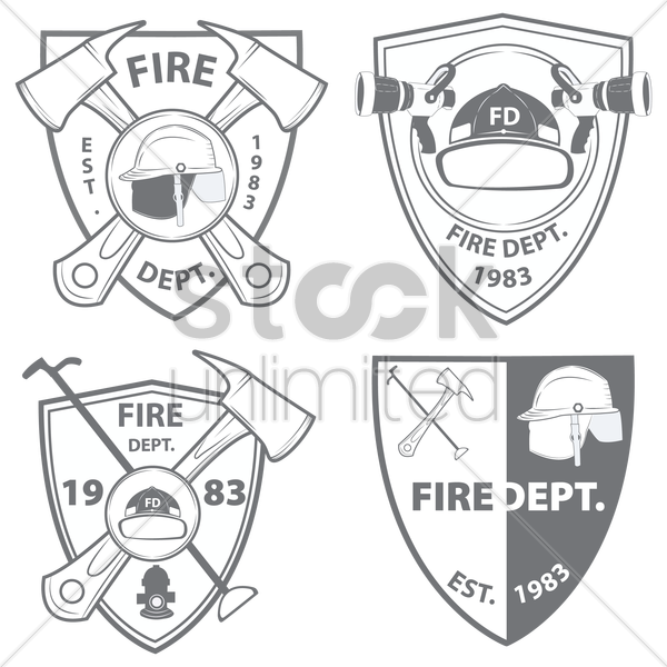 fire department emblems and badges vector graphic