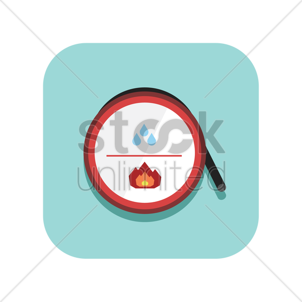 fire hydrant reel vector graphic