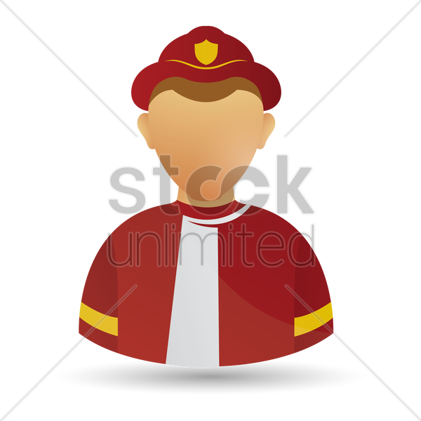firefighter vector graphic