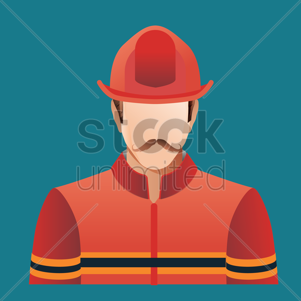 Free fireman vector graphic