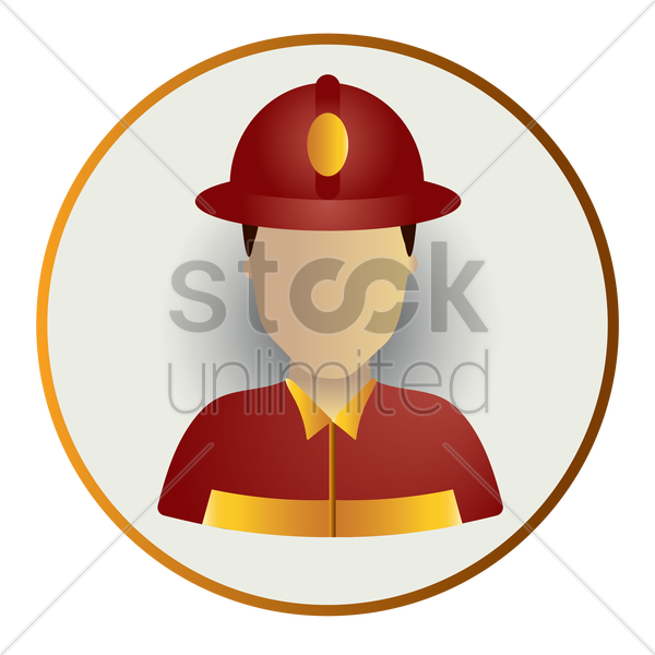 fireman vector graphic