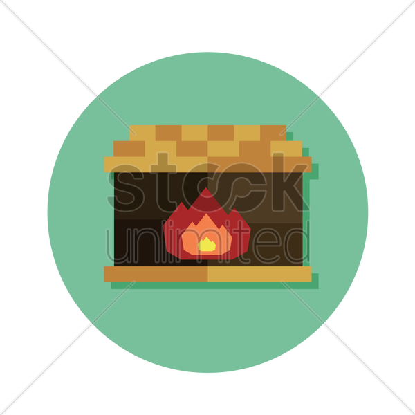 fireplace vector graphic