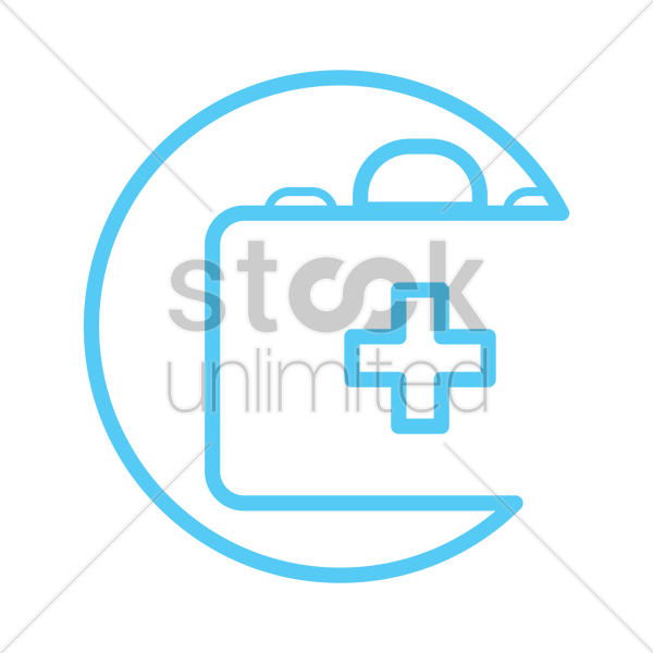 first aid kit icon vector graphic