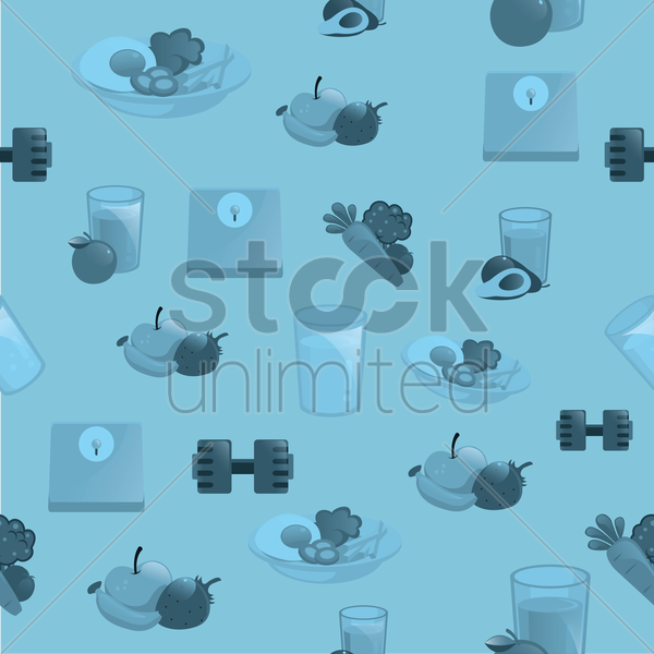 fitness and health background vector graphic