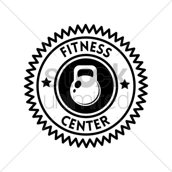 fitness center label vector graphic