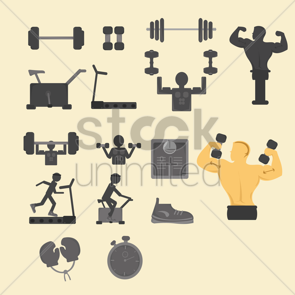 fitness concept design vector graphic
