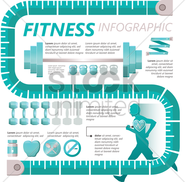 fitness concept vector graphic