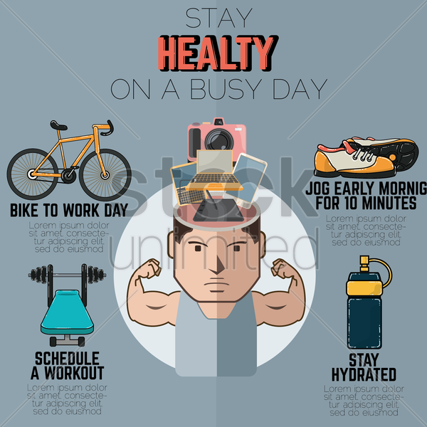 Free fitness infographic vector graphic