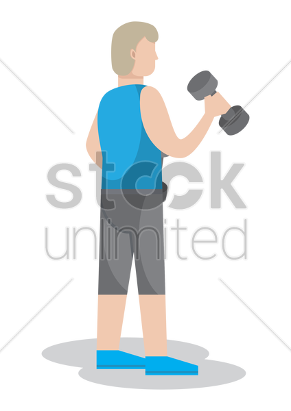fitness instructor vector graphic