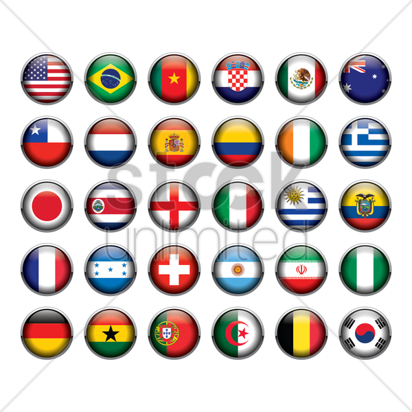 flag of different countries vector graphic